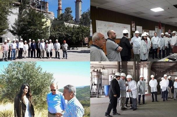 EÜAŞ ve ATKB yetkilileri Yatağan Termik Santrali'ni ziyaret etti